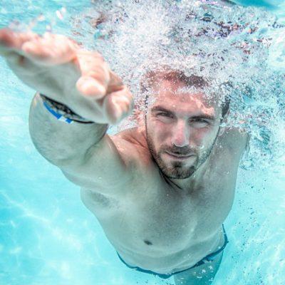 Triathlon training swimming