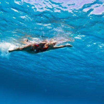 Triathlon training swimming in Mallorca